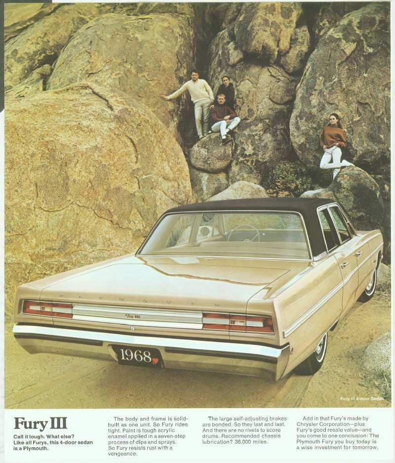 1968 Plymouth Fury 5.3l V8 A